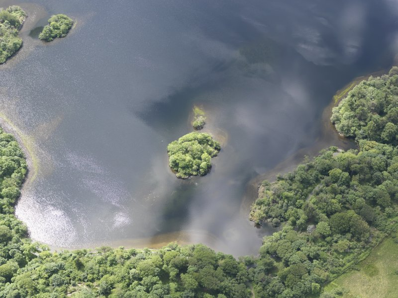 Oblique aerial view of Loch Ballygrant, looking SW.