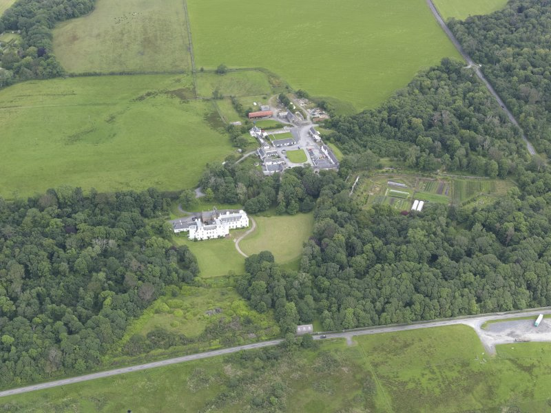 Oblique aerial view of Islay House, looking NE.