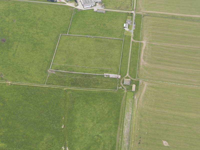 Oblique aerial view of Hall of Clestrain, Clestrain, looking SSE.