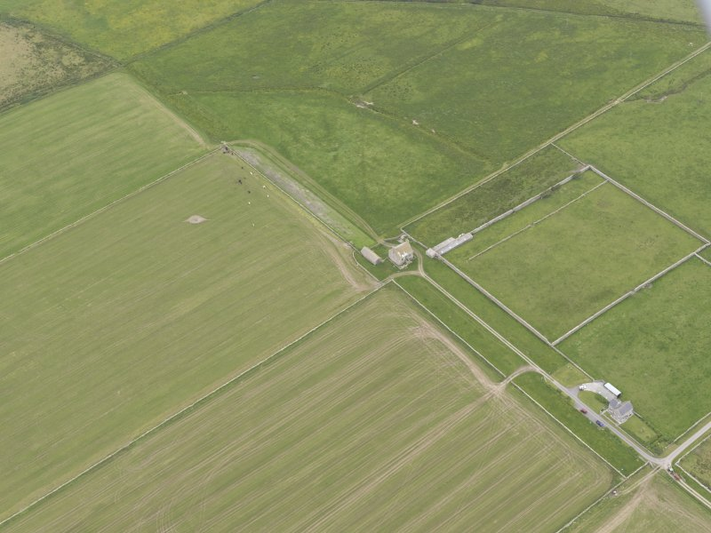 Oblique aerial view of Hall of Clestrain, Clestrain, looking SE.