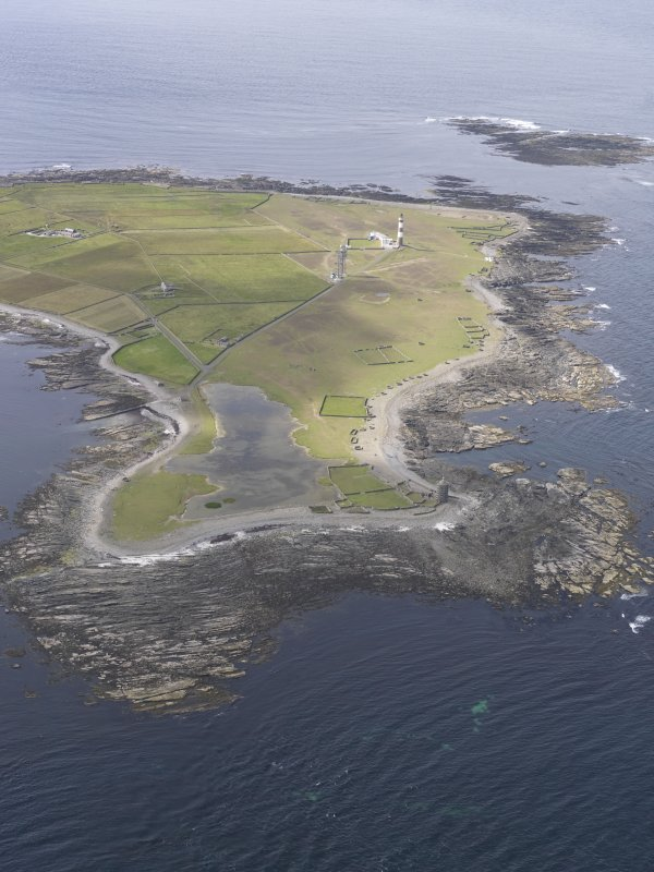 Oblique aerial view centred on Dennis Ness, looking N.