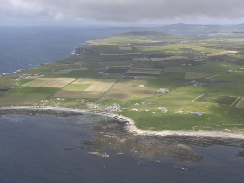 General oblique aerial centred on Birsay Bay, looking ENE.
