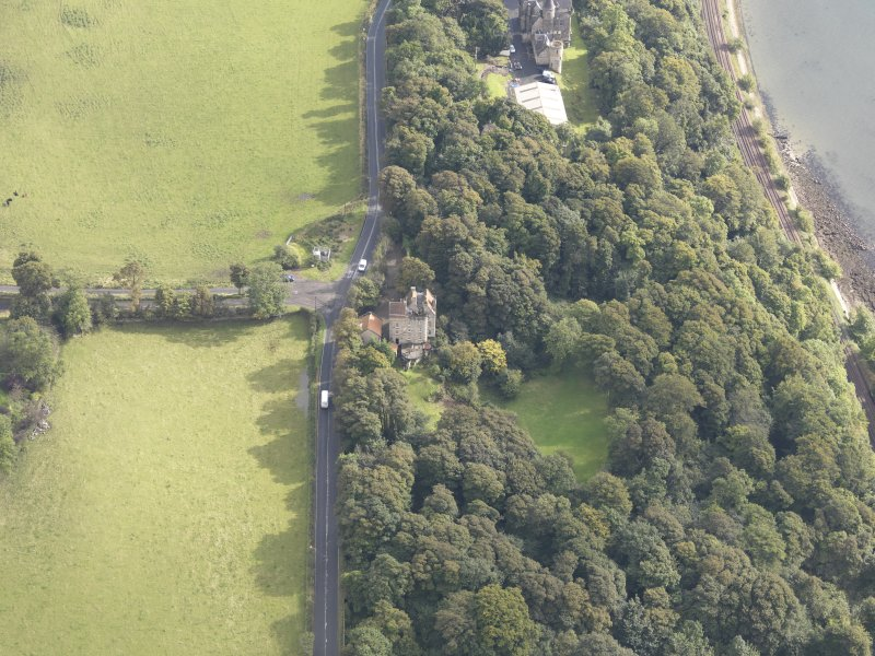Oblique aerial view of Easterheughs House, looking to the E.