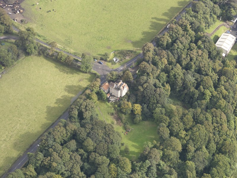 Oblique aerial view of Easterheughs House, looking to the NE.