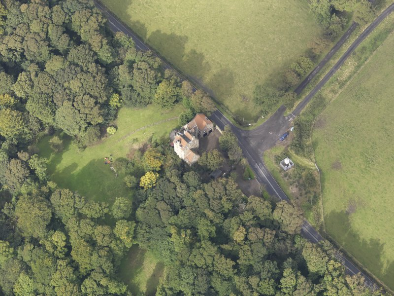 Oblique aerial view of Easterheughs House, looking to the NW.