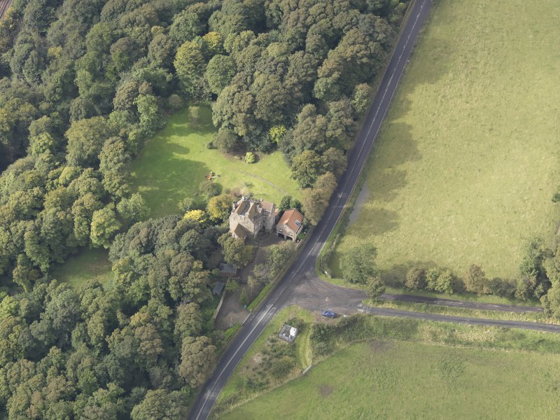 Oblique aerial view of Easterheughs House, looking to the SW.