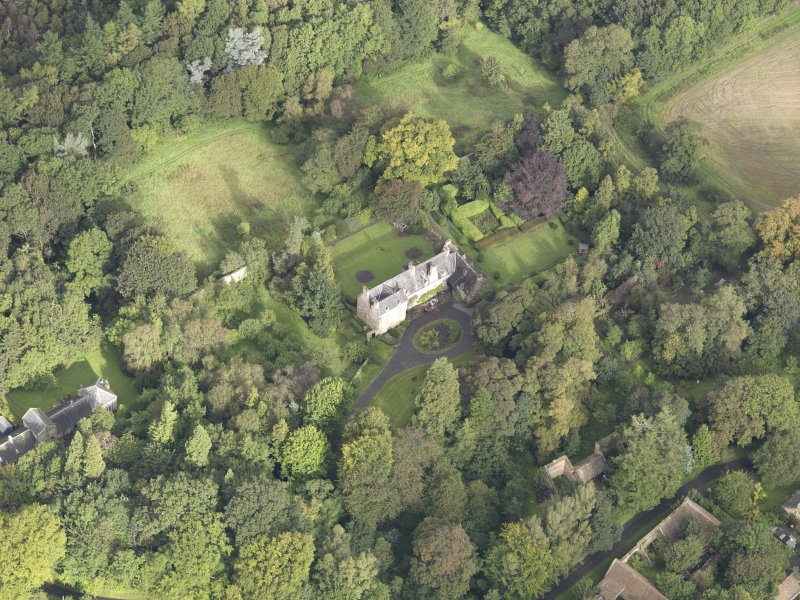 Oblique aerial view of Fountainhall Country House, looking to the N.
