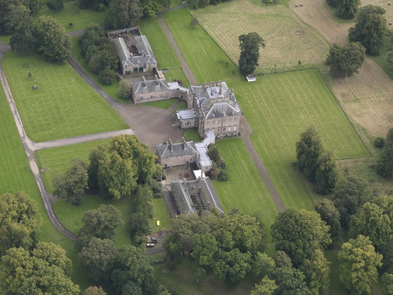 Oblique aerial view of Arniston House, looking to the ESE.