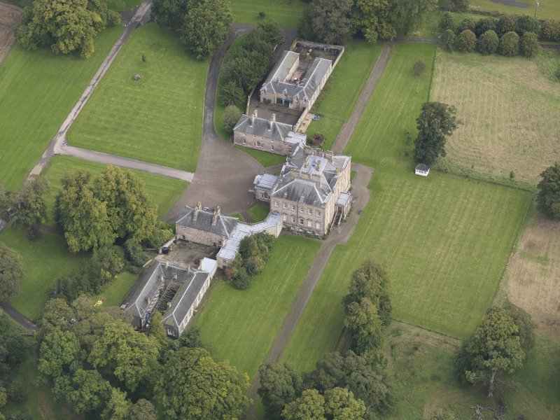 Oblique aerial view of Arniston House, looking to the NE.