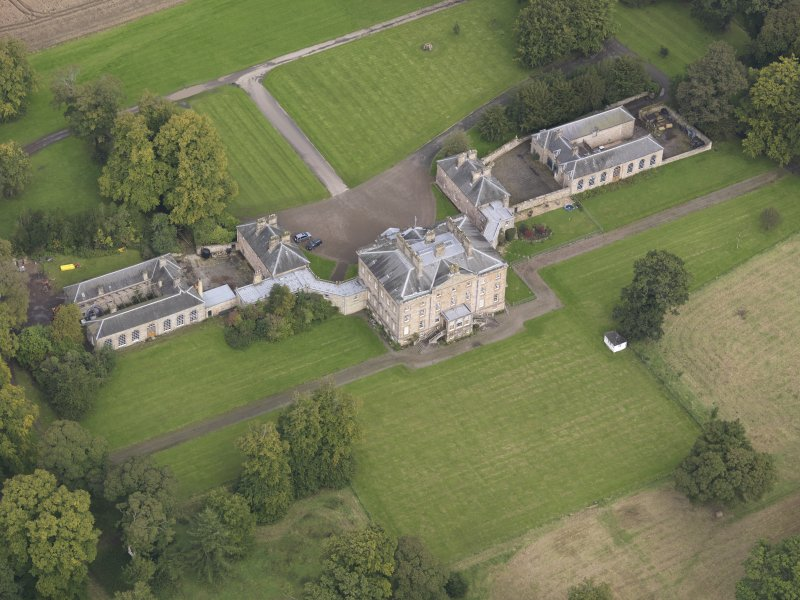 Oblique aerial view of Arniston House, looking to the NNE.