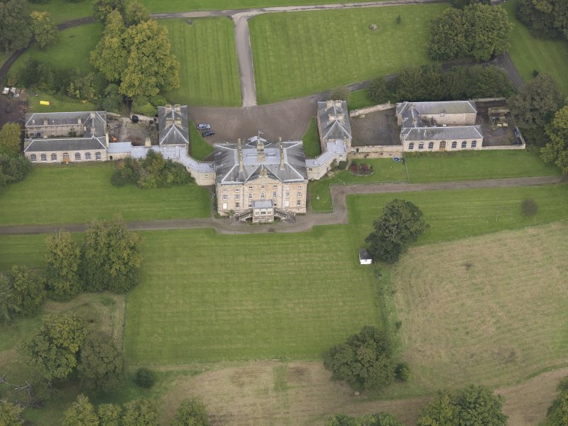 Oblique aerial view of Arniston House, looking to the N.