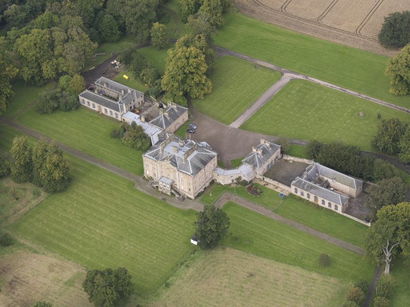 Oblique aerial view of Arniston House, looking to the NNW.