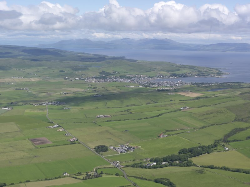 General oblique aerial view of Campbeltown, looking NNE.