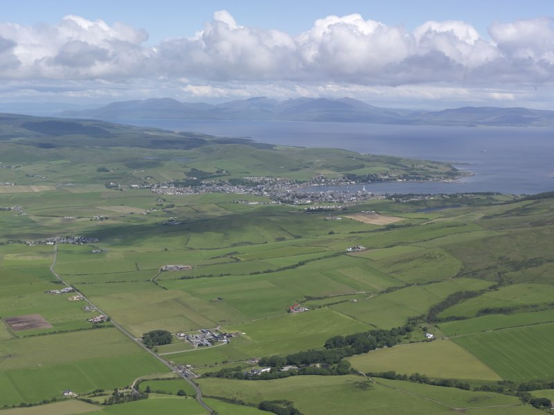 Oblique aerial view of Campbeltown, looking NNE.