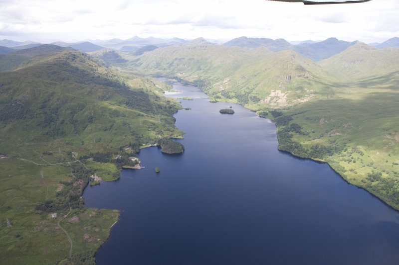 General oblique aerial view of Loch Katrine, looking NW.