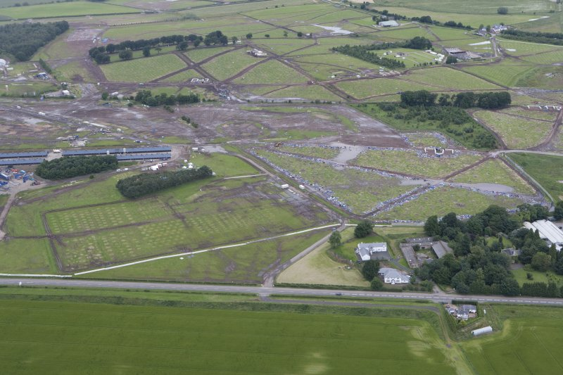 General oblique aerial view of the aftermath of T in the Park, looking N.