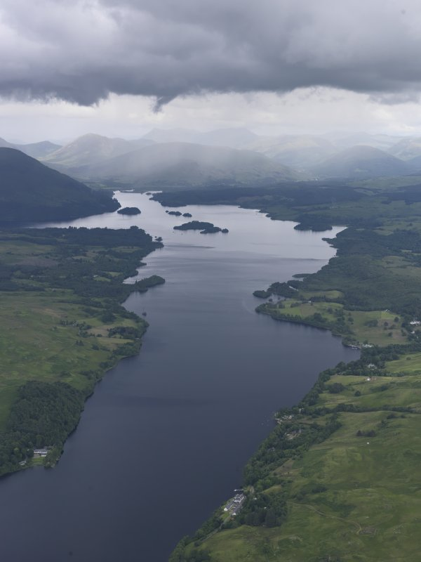 General oblique aerial view of Loch Awe, looking NE.