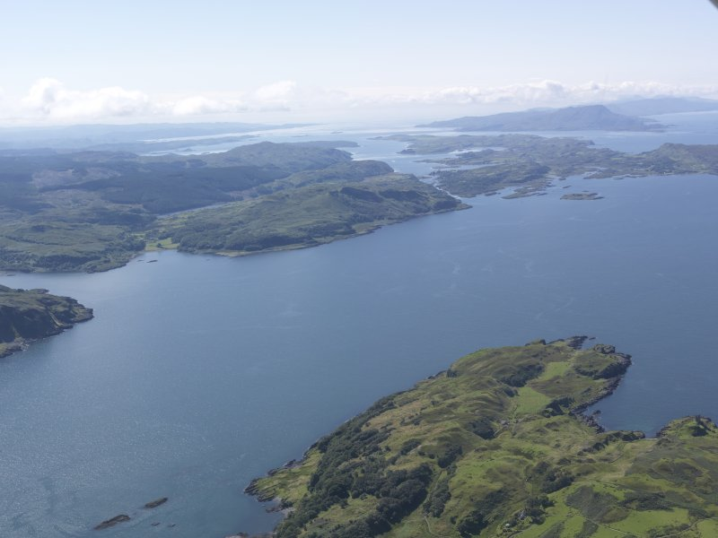 General oblique aerial view of Seil Island with Scarba beyond, looking S.