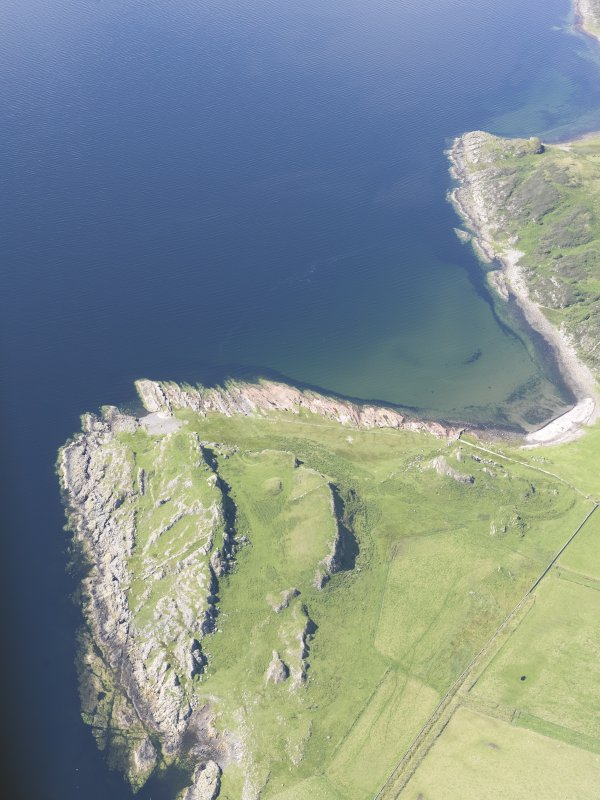 Oblique aerial view of Dunagoil, looking NNW.