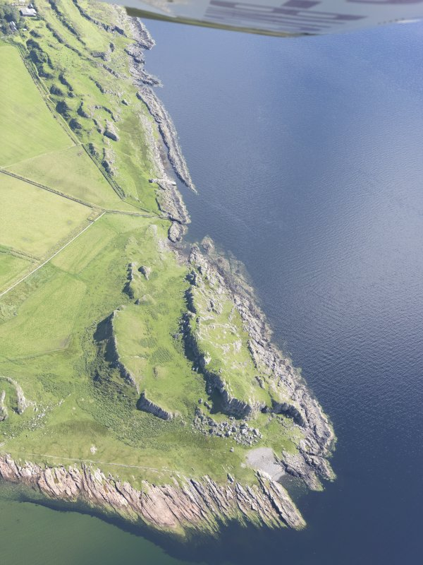 Oblique aerial view of Dunagoil, looking SSE.