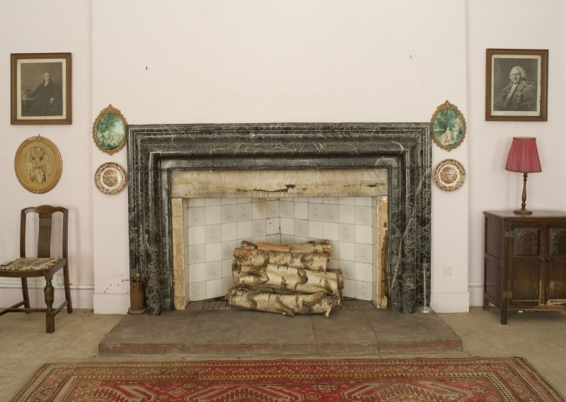 Ground floor. Dining room fireplace.
