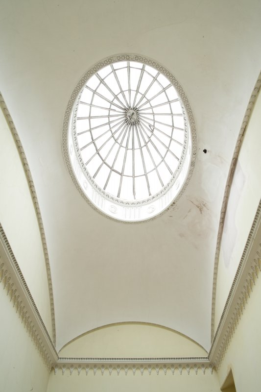 View of cupola skylight over stairs.