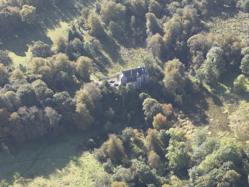 Oblique aerial view of Bedlay Castle, taken from the NE.