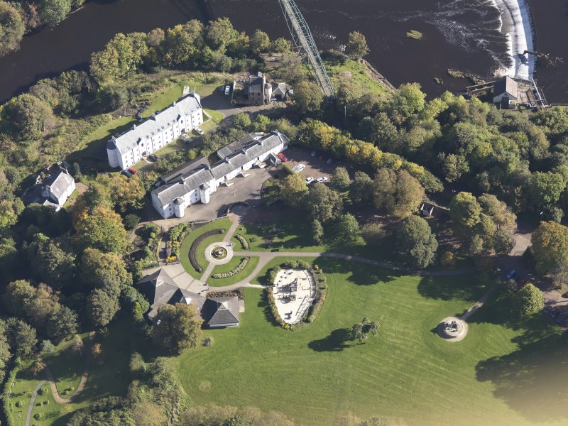 Oblique aerial view of David Livingstone Museum, taken from the W.