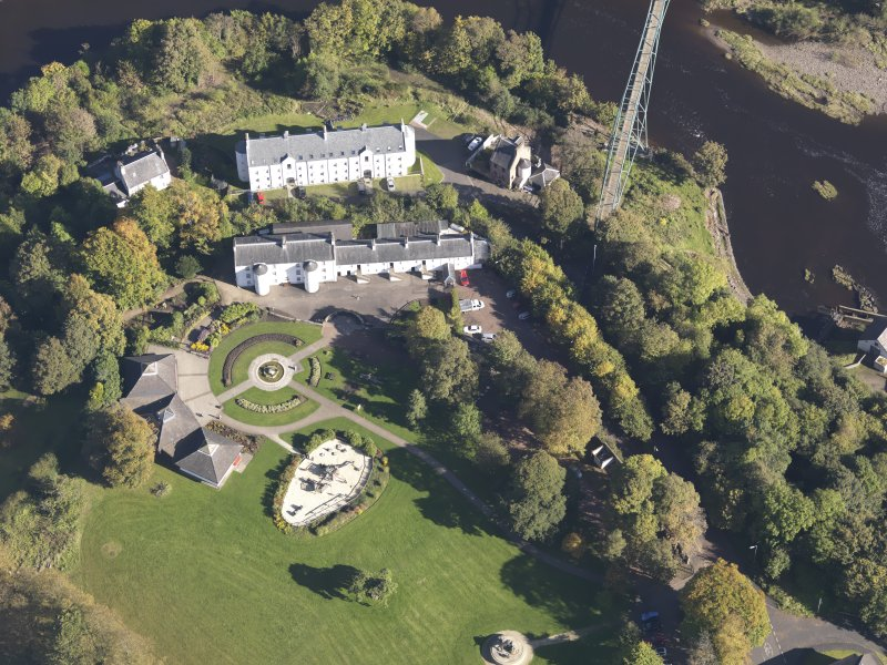 Oblique aerial view of David Livingstone Museum, taken from the SW.