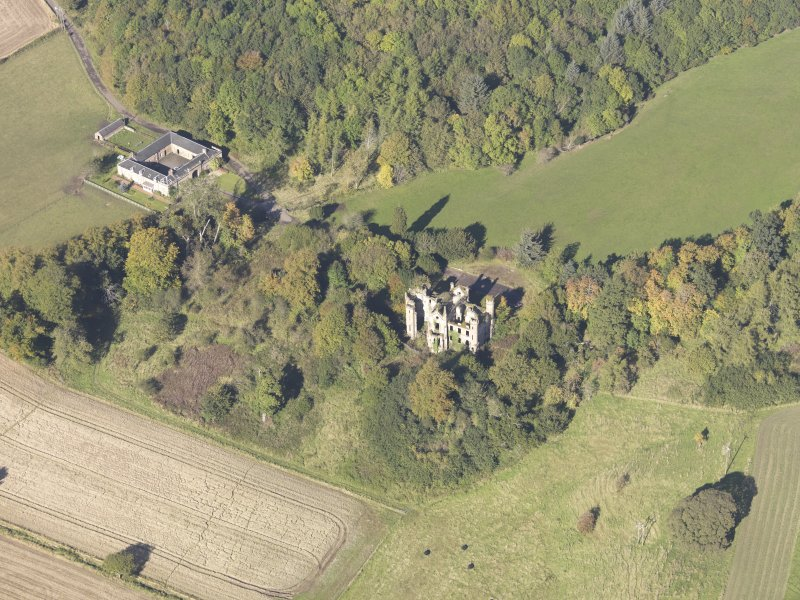 Oblique aerial view of Cambusnethan House, taken from the SE.