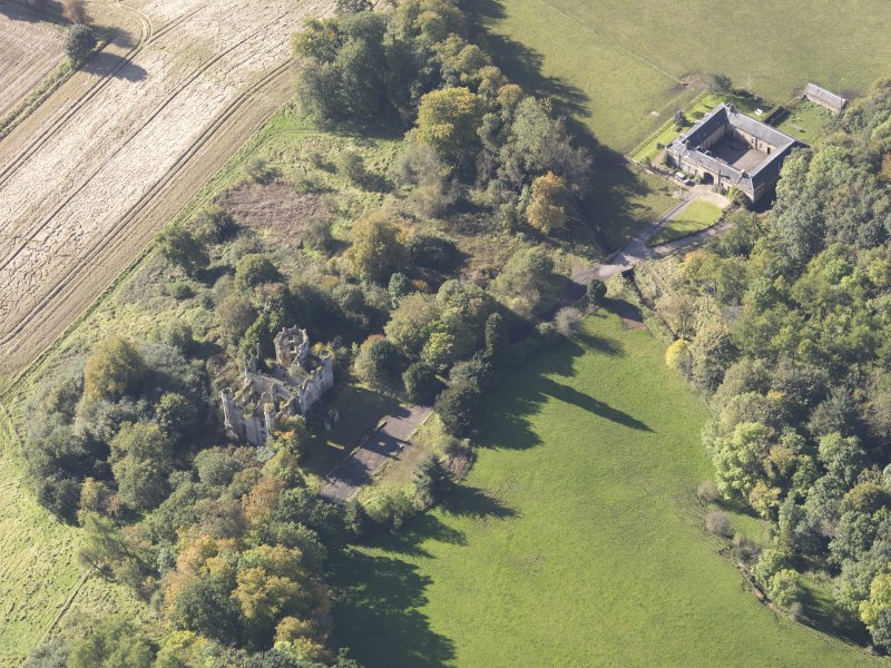 Oblique aerial view of Cambusnethan House, taken from the NE.