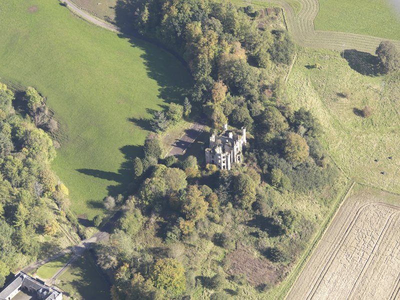 Oblique aerial view of Cambusnethan House, taken from the W.
