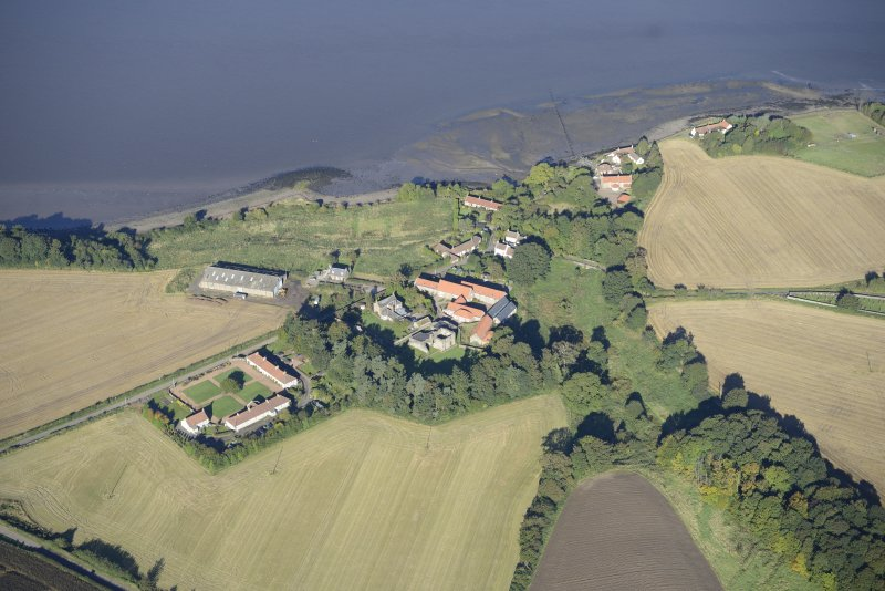 Oblique aerial view of Balmerino, taken from the SSE.