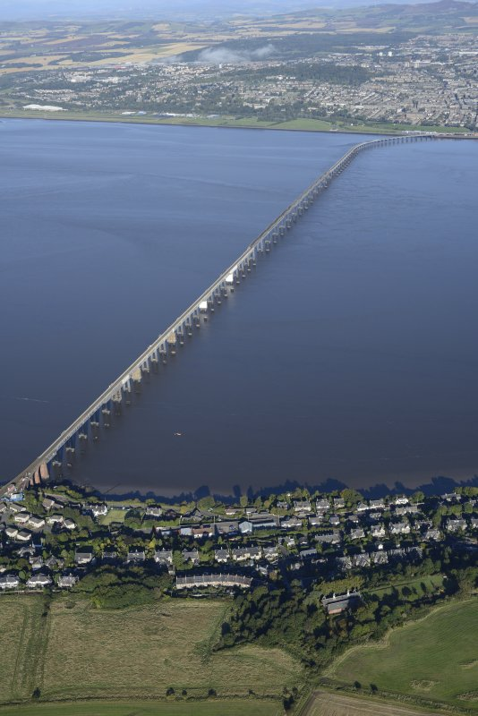 Oblique aerial view of Tay Bridge, taken from the SSE.