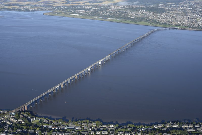 Oblique aerial view of Tay Bridge, taken from the SE.
