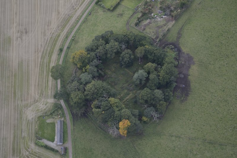 Oblique aerial view of Kincardine Castle, taken from the ENE.