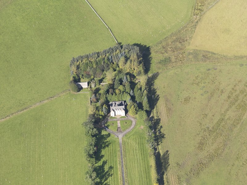 Oblique aerial view of Skellater House, taken from the SE.
