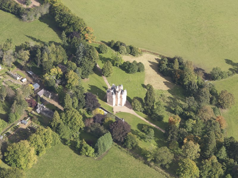 Oblique aerial view of Craigievar Castle, taken from the SW.