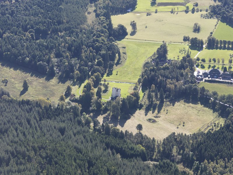 Oblique aerial view of Aboyne Castle, taken from the N.