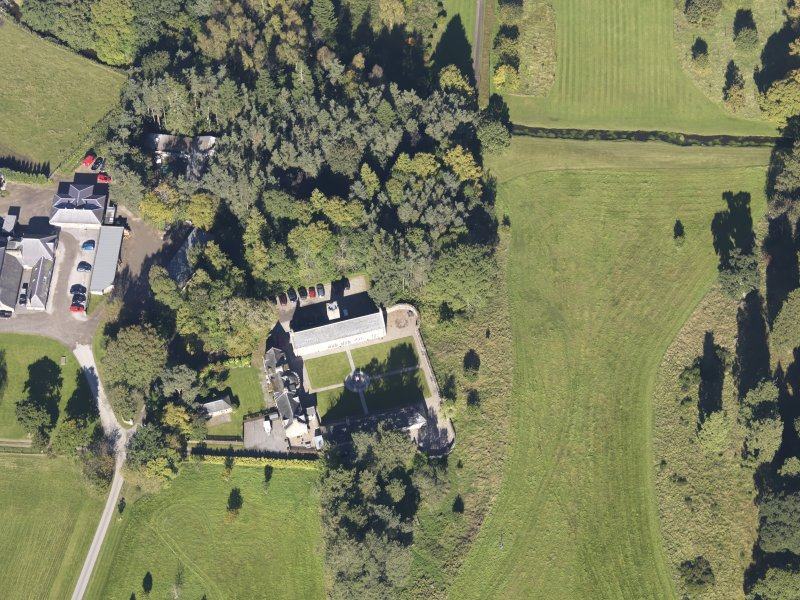 Oblique aerial view of Aboyne Castle, taken from the S.