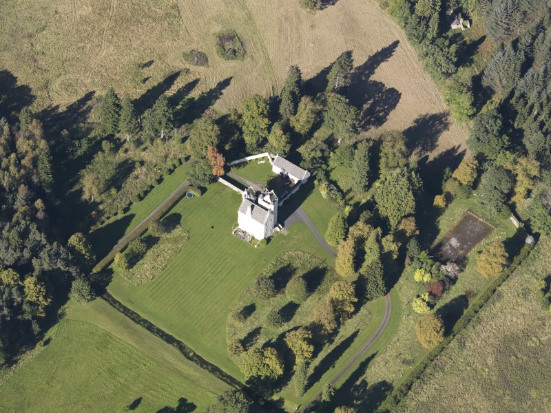 Oblique aerial view of Aboyne Castle, taken from the SE.