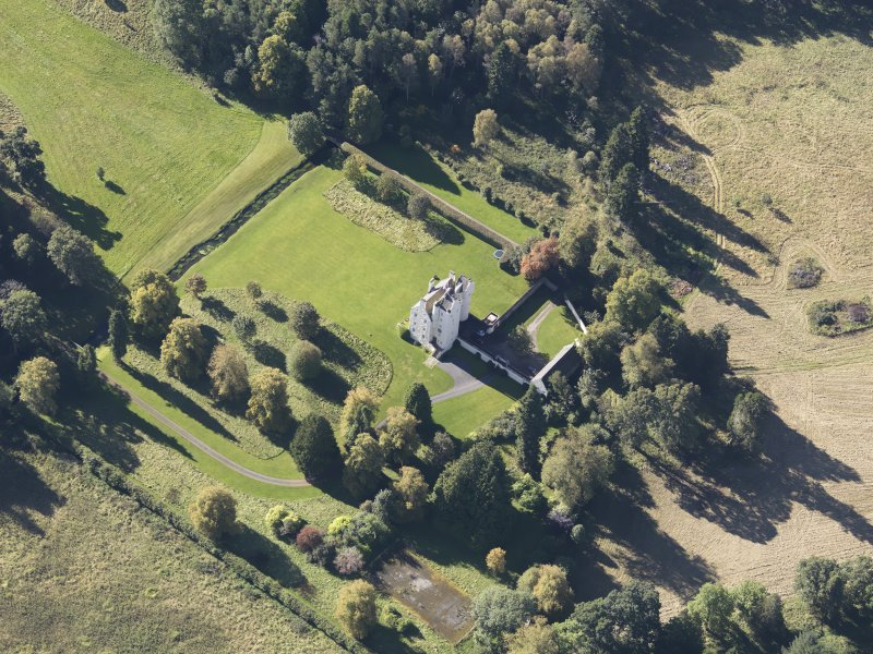 Oblique aerial view of Aboyne Castle, taken from the NE.