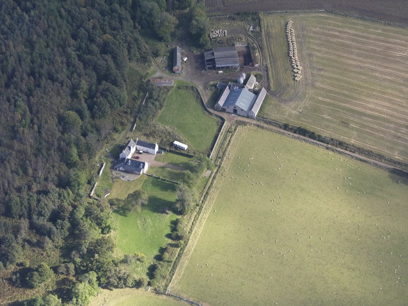 Oblique aerial view of Balnacraig House, taken from the WSW.