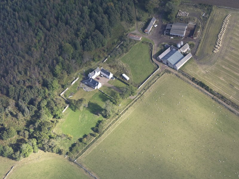 Oblique aerial view of Balnacraig House, taken from the SW.