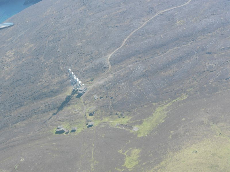 General oblique aerial view of Ward Hill, Fair Isle, looking SE.