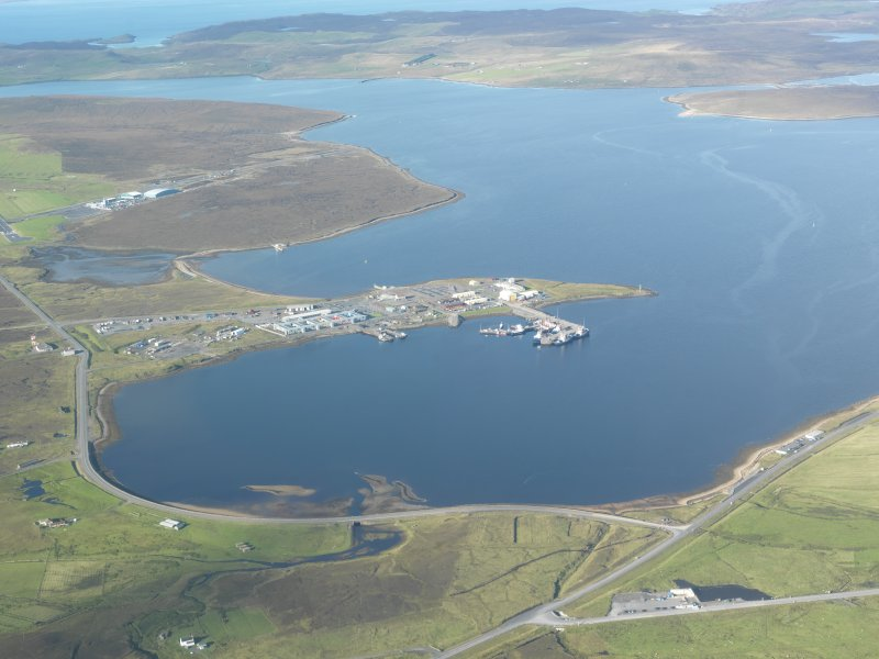General oblique aerial view of Sella Ness, looking W.