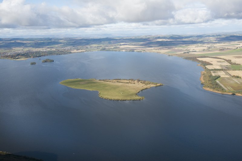 General oblique aerial viewof Loch Leven centred on St Serf's Island, taken from the SSE.