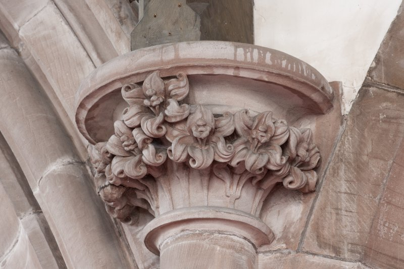 Interior. Detail of  column capital