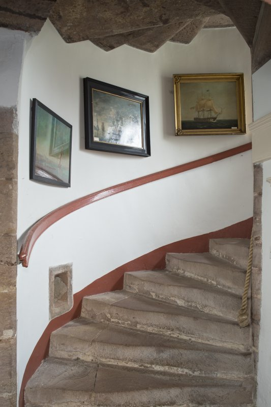 Ground floor. Staircase from west.