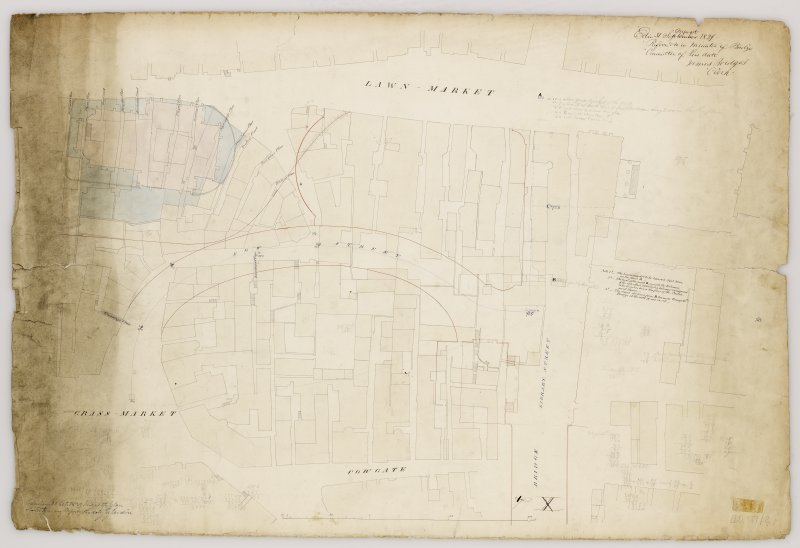 Plan of area showing Victoria Street (Bow Street) as to be altered